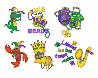 Mardi Gras Digital Clip Art for Personal and Commercial Use - INSTANT DOWNLOAD