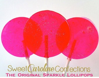 Watermelon Lollipops, It's a Girl, Party Favors, Baby Girl, Baby Shower, Pink Party Favors, Pretty Candy, Personalized-Set of Six