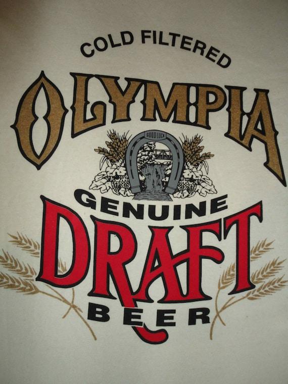 vintage beer t shirt olympia genuine draft by blackberrybungalow. Black Bedroom Furniture Sets. Home Design Ideas