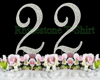 New Large Rhinestone Number 50 Cake Topper 50th Birthday