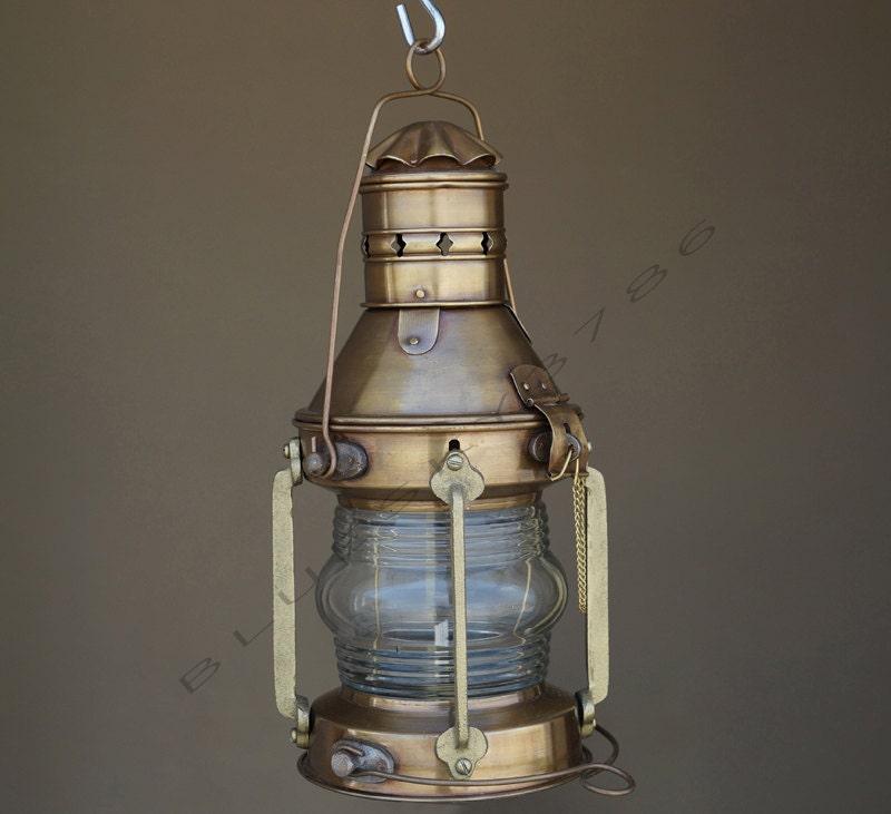 Antique Perko Navigation Lights Vintage Authentic Naval: Antique Marine Ship Lantern Boat Light Anchor Lamp By