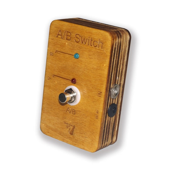 items similar to guitar pedal true bypass ab switch wooden box on etsy. Black Bedroom Furniture Sets. Home Design Ideas