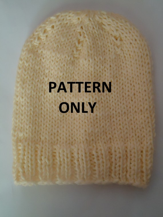 Pattern For Infinity Scarf Knit : Easy knit beanie pdf patternKnit hat pattern Beanie by AYTULGIFT