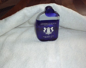 COUNTRY CLUB Blue EDT Men Cologne (Deluxe Limited Edition 3.3-oz Size) Rare Cologne, Beautiful Bottle as well