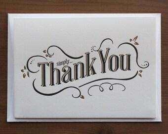 Thank You… Letterpress Notecard