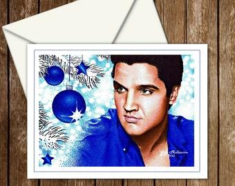 Elvis Blue Christmas card