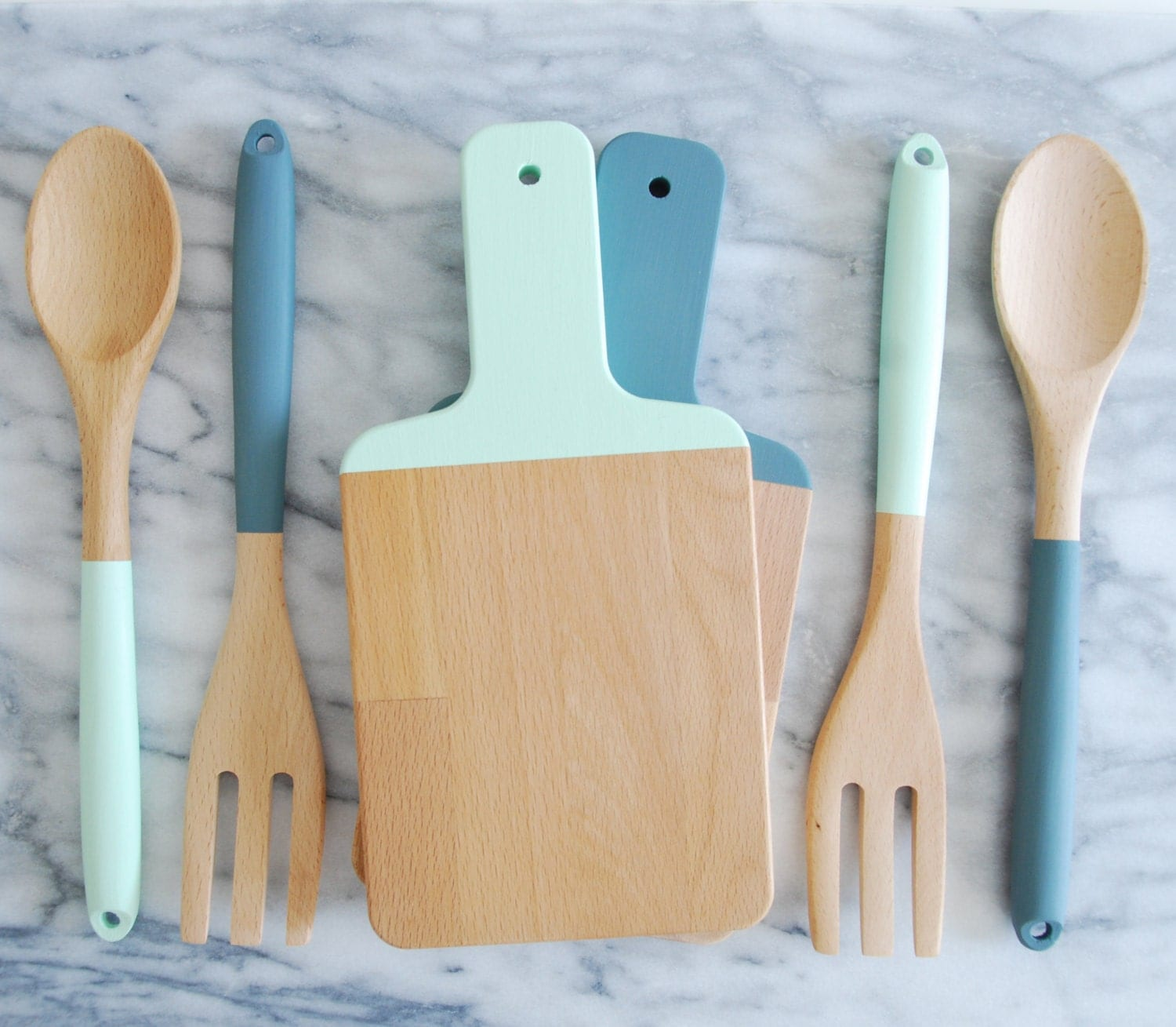 Mix And Match Cutting Board And Kitchen Utensil Set By