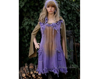 Panka Bohemian Hand Dyed Tunic Dress OOAK