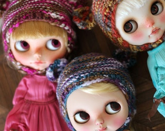 Mixed color collection:Bear EAR hats/helmet for Blythe