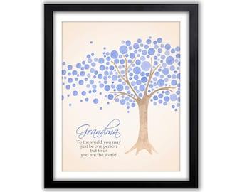 Watercolor Art - Grandparent Christmas Gift - Wall Art For Grandfather - Grandma Gift - Gift For Mimi