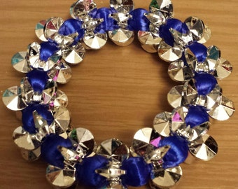 Love and Hip Hop and Basketball wives inspired blue and silver bracelet