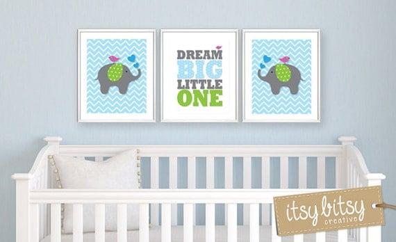 art elephant nursery decor baby boy nursery chevron nursery wall