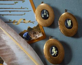 Refillable Zodiac Perfume Lockets- Aquarius, Gemini, or Libra- Air Signs