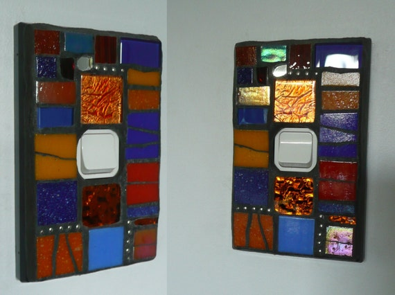 Single and Double Mosaic Switch Cover Plates - MADE TO ORDER