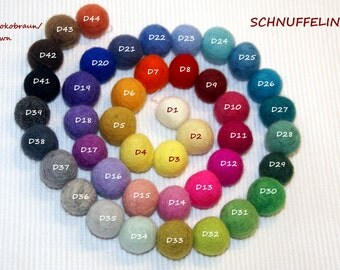 Felt Balls, Felt Beads, Pom Poms, Wool Beads , CHOOSE YOUR COLORS, Sizes 1.0 cm, 1.5 cm, 2.0 cm, 2.5 cm,