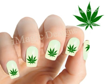 Weed nails   Etsy