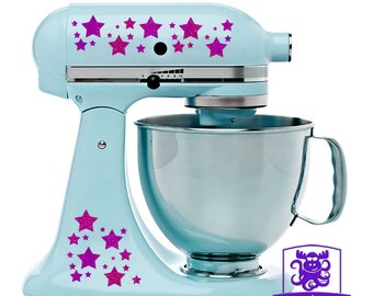 Star Patterned Kitchen Stand Mixer Front & Back Decal Set