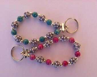 Sparkle Soccer Keychain Bracelet