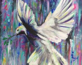ART PRINT 'Peace Dove' A3