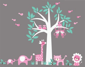Tree WALL DECAL Jungle Wall Decal - D102A