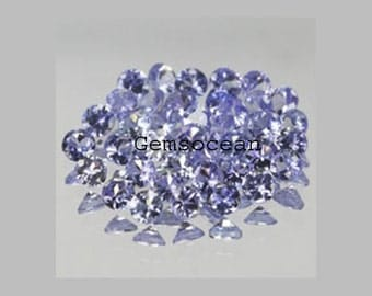 Lot Of Stunning AAA QualitY 25 Pieces Natural Tanzanite 2.25x2.25 MM Round Faceted (Normal Cut) Loose Gemstone