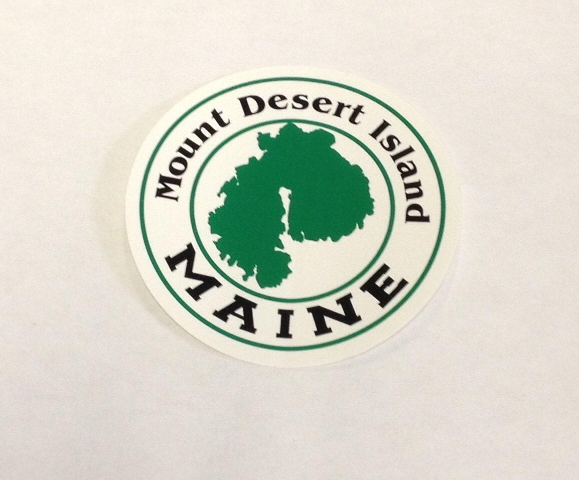 Sticker Mount Desert Island Maine Round Vinyl Sticker