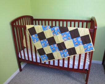 Crib Bedding Set. Gender Neutral Crib Bedding. Dog Crib Bedding.