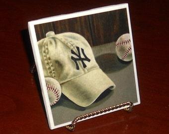 Yankees Hat Coaster