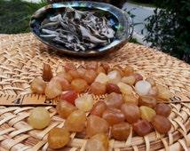 Golden Healer Quartz ~ 1 small/medium Reiki infused tumbled crystal