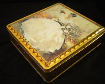 Vintage 1940s Tin Box Made in France Claudia Van Gelderen 1905