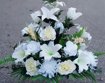 Ivory and White perfect for all wedding,church,home decoration-artificial flowers