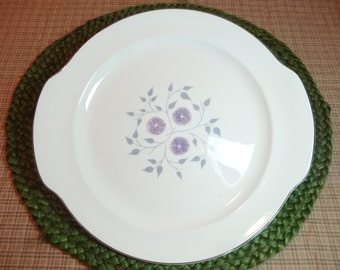 Homer Laughlin China ~ Cake Plate ~ Anniversary Pattern  ~ Discontinued