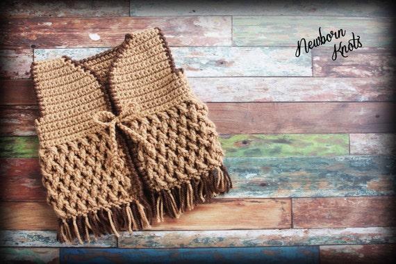 Basket Weave Vest Pattern : Crochet pattern for weaving fringe baby cowboy vest