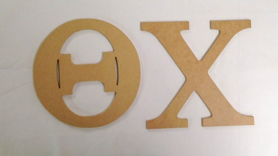 theta chi 75 unfinished wood letter set by greeklifestuff With theta chi wooden letters
