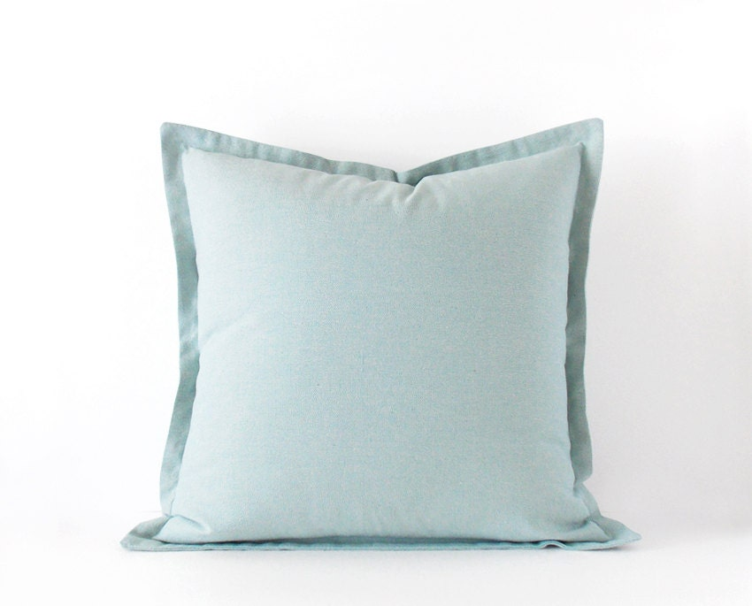 Light Blue Throw Pillow Covers : Light blue decorative pillow cover in 16x16 inches 18x18