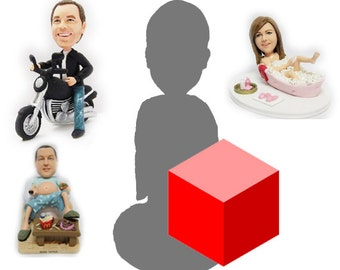 Bespoke Personalised cake topper for single person with background (Free shipping)