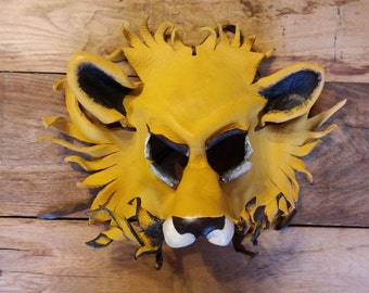 Leather Mask of a Lion