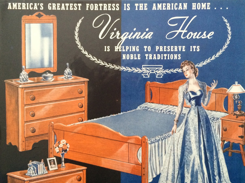 Original Vintage 1940s Virginia House Maple Furniture
