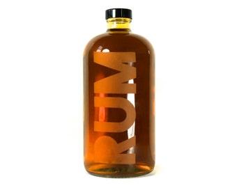 Rum Bottle - Boston Round