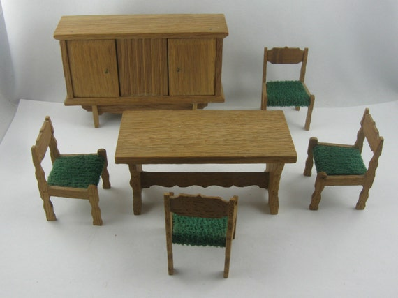 10 off 70s dollhouse furniture dining room rustic style for Furniture 70s style