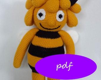 crochet pattern bee, crochet bee, Maya the bee, crochet amigurumi