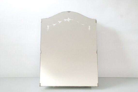 Medicine Cabinet, Mirror Medicine Cabinet, Bathroom Medicine Cabinet,  Recessed, Beautiful Etched Mirror