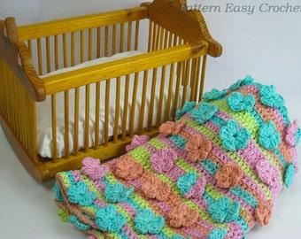 Baby blanket pattern crochet - floral fantasy