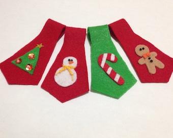 Christmas Costume, Christmas Cat Ties, Sweet Christmas, Cat Accessories , felt accessories , Cute Christmas , Kawaii