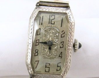 Vintage 14k white gold American Standard watch