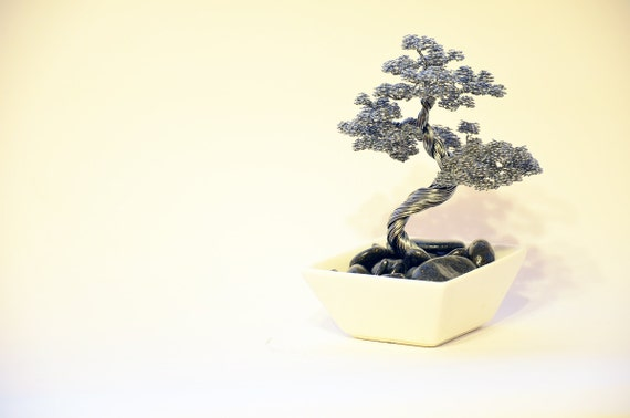 bonsai draht baum skulptur handarbeit metall artcraft. Black Bedroom Furniture Sets. Home Design Ideas
