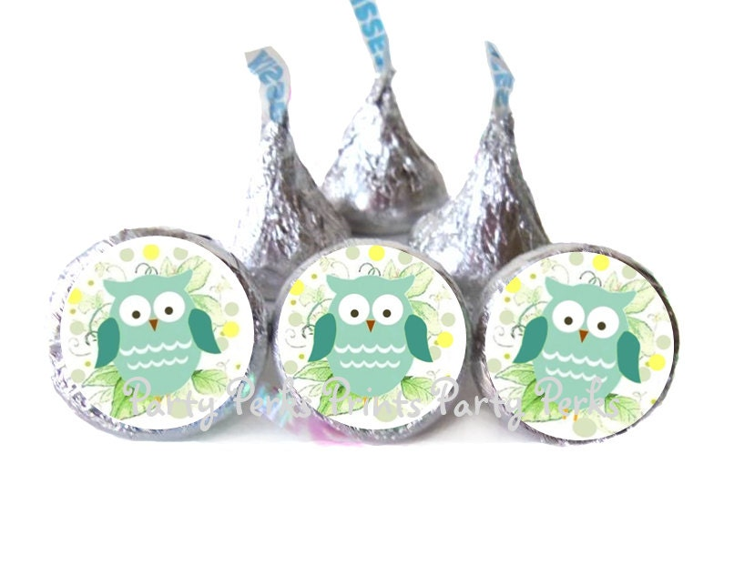 owl baby shower decorations favors blue green by partyperksprints