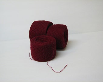 BURGANDY 100% Merino 3980 yards recycled yarn