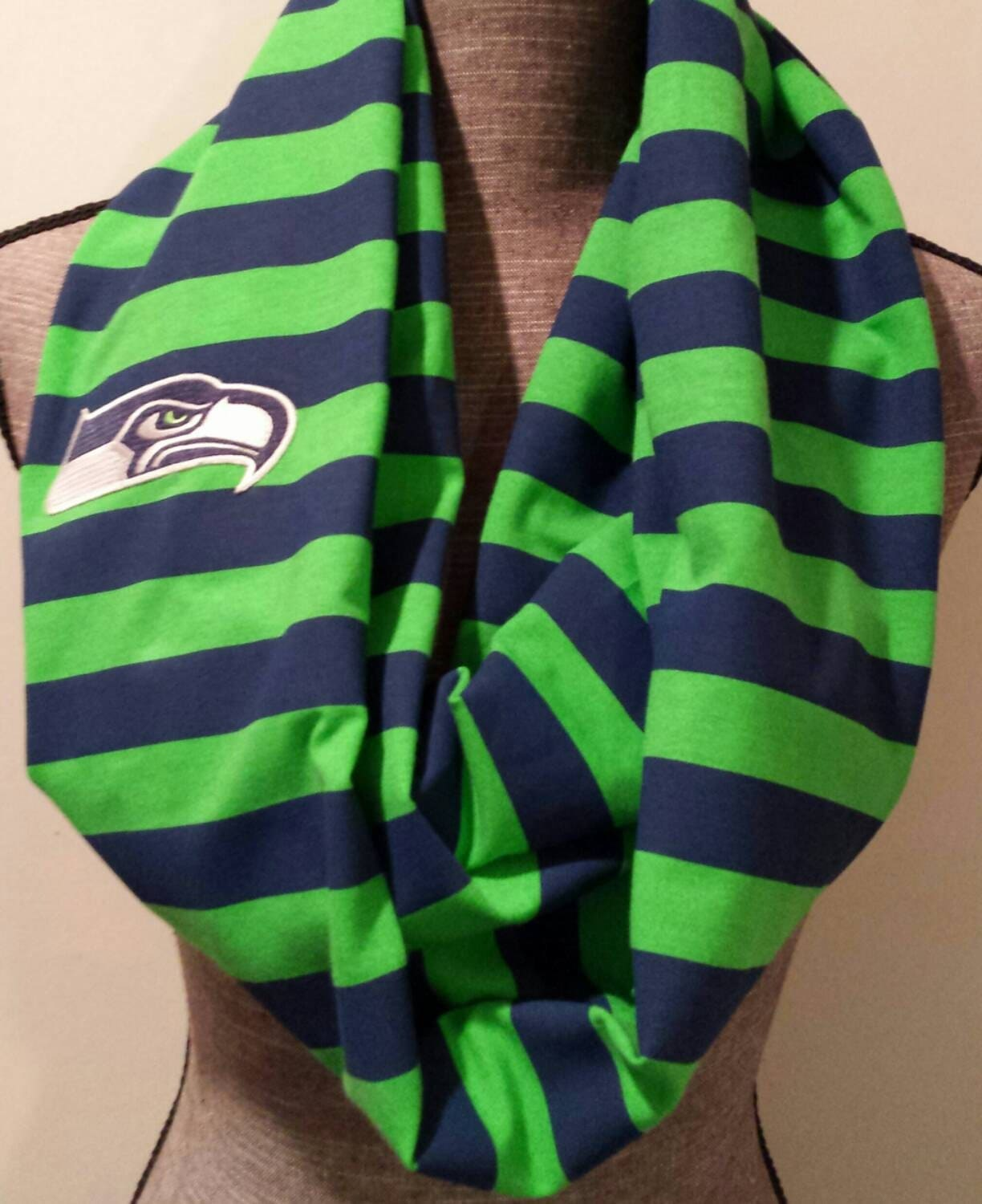 seahawks scarf infinity scarf 12th by itspeachykeen on