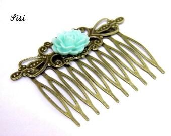 Comb tans blue flower